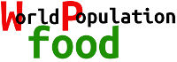 World population food logo